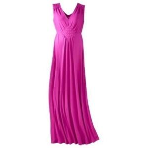 Raspberry maxi dress