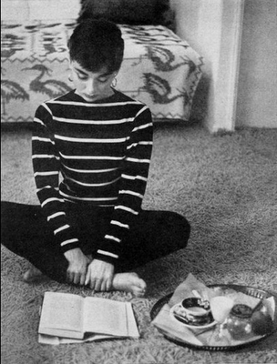 12. audrey hepburn stripes